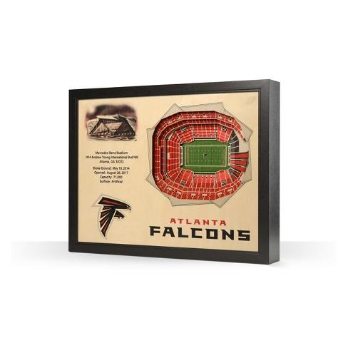 NFL Atlanta Falcons 25 Layer Stadiumviews 3D Wall Art - image 1 of 4