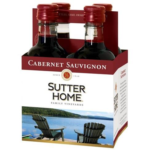 Sutter Home Cabernet Sauvignon Red Wine - 4pk/187ml Bottles - image 1 of 1