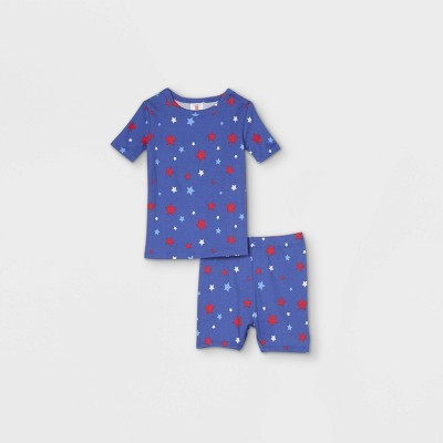 Toddler Americana Stars Matching Family Pajama Set - Blue