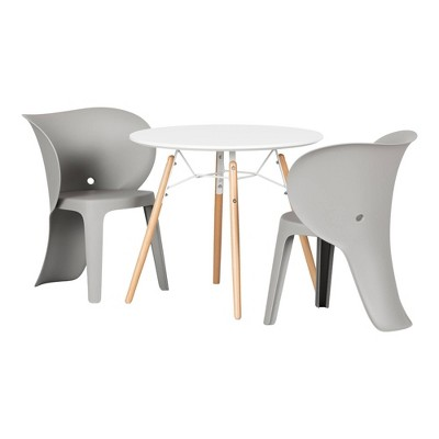 Sweedi Kids' table and chairs set Elephant Gray  - South Shore