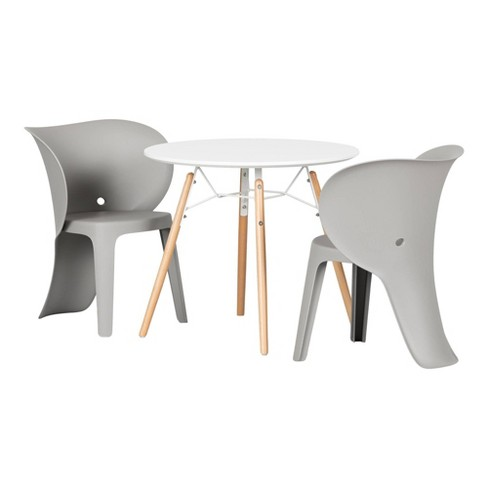 Kids Table And Chairs Set Elephant Gray