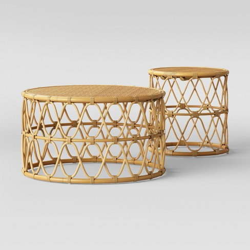 Jewel Round Coffee Side Table Set Natural Opalhouse