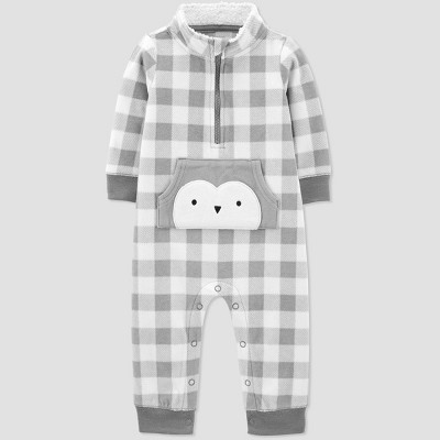 Baby Boys' Buffalo Penguin Rompers - Just One You® made by carter's Gray 3M