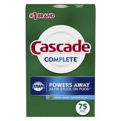Cascade Powder Dishwasher Detergent - Fresh Scent -  75oz