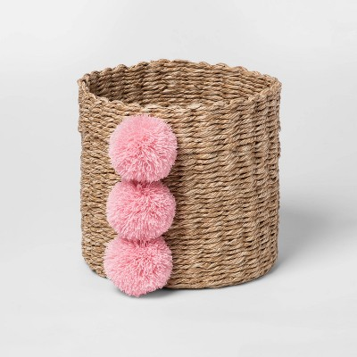 Small Paper Rope Decorative Basket Pink - Cloud Island™