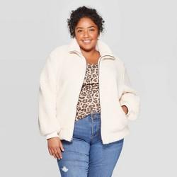 Women's Plus Size Long Sleeve Bomber Jacket - Ava & Viv™
