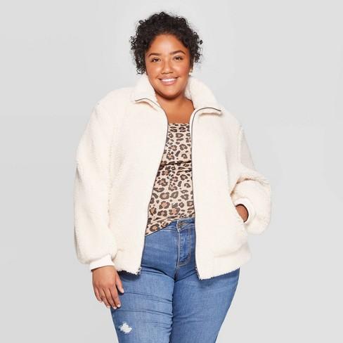 Women's Plus Size Long Sleeve Bomber Jacket - Ava & Viv™ - image 1 of 2