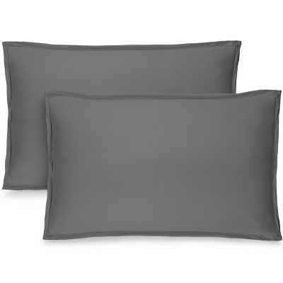 Bare Home Solid Microfiber Pillow Sham Set