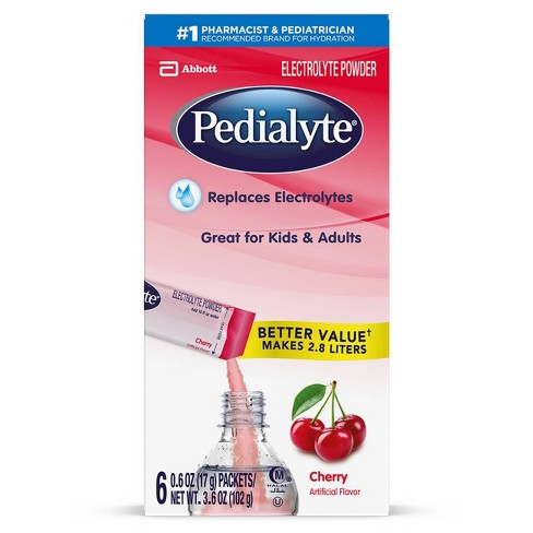 Pedialyte Electrolyte Powder - Cherry - 3.6oz Total - image 1 of 4