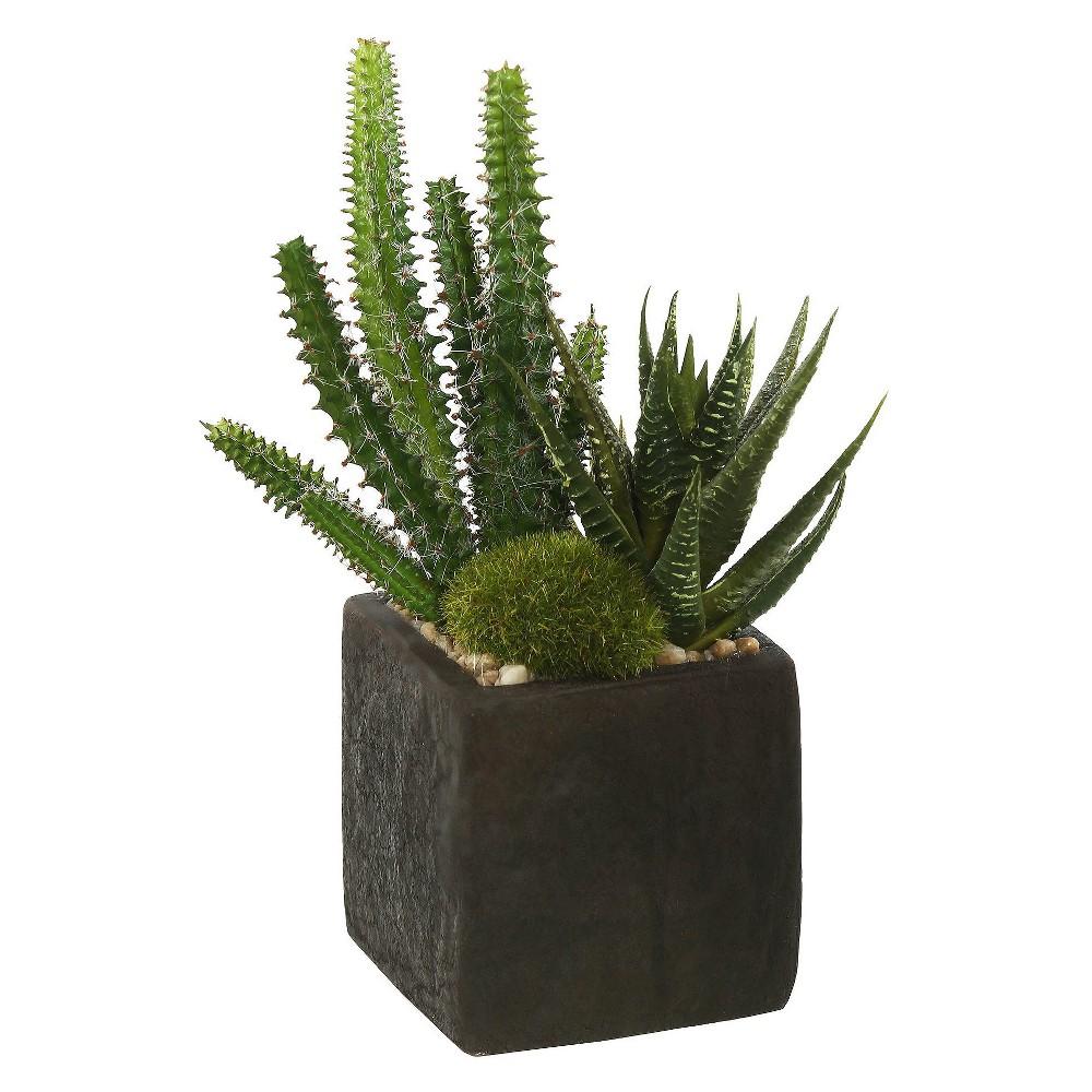 """Artificial Succulent Arrangement (8"""") Green - Vickerman"""