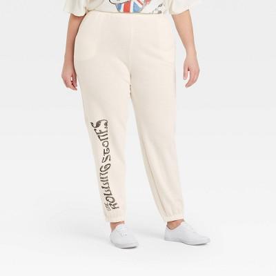 Women's Rolling Stones Europe 82 Graphic Jogger Pants - Beige