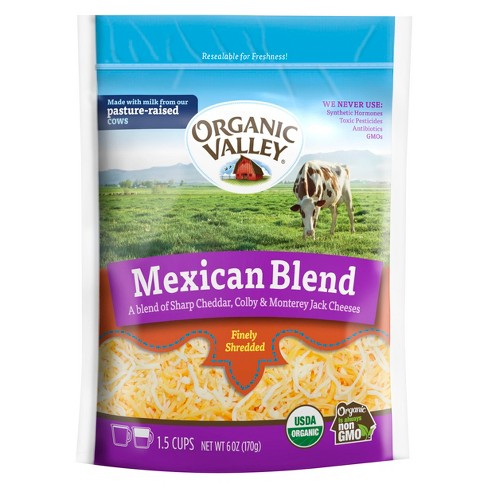 Organic Valley Finely Shredded Mexican Blend Cheese - 6oz - image 1 of 1
