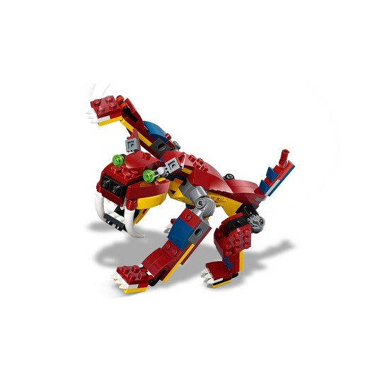 LEGO Creator 3-in-1 Fire dragon 31102 Fearsome Building Kit image number null