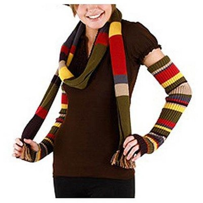 Elope Doctor Who 4th Doctor Arm Warmers: Multicolor