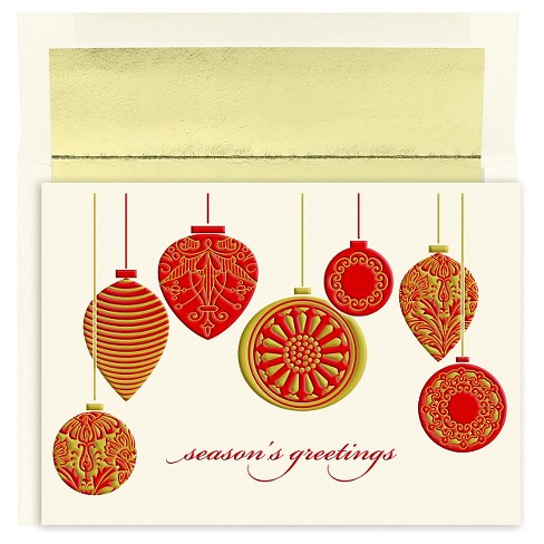 16ct seasons greetings ornament holiday boxed cards target about this item m4hsunfo