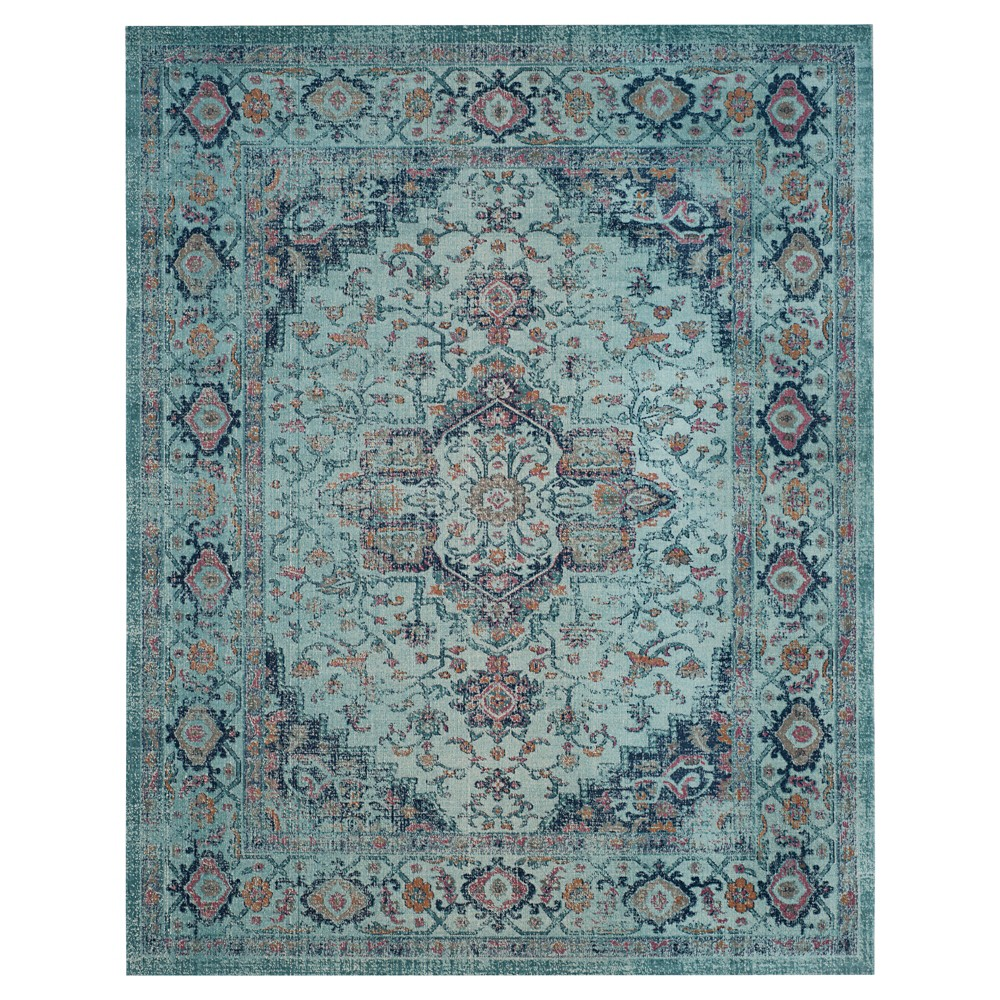 Light Blue Solid Loomed Area Rug - (9'X12') - Safavieh