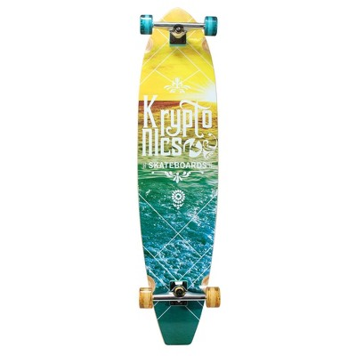 "Kryptonics 44"" Blocktail Gradient Shores Long Board - Vintage Yellow"