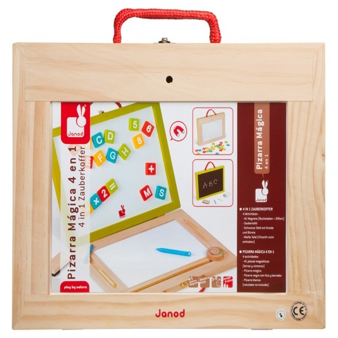 Janod 4-in-1 Magic Magnetic/ Blackboard Suitcase - image 1 of 7
