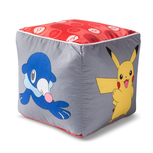 Outstanding Pokemon Pikachu Gray Floor Pillow Gmtry Best Dining Table And Chair Ideas Images Gmtryco