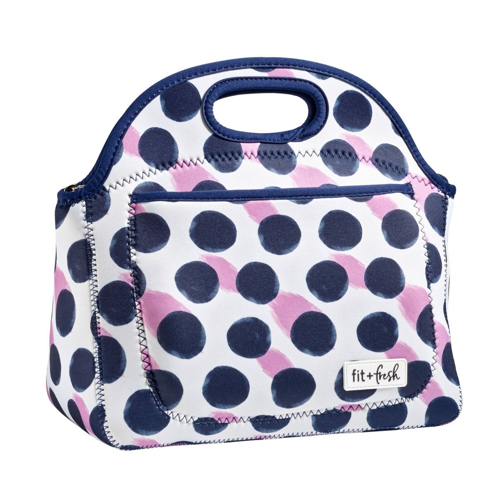 Image of Fit & Fresh Rosewood Lunch Tote - Polka Dot