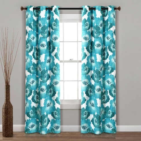 Julie Floral Insulated Grommet Blackout Window Curtain Panels - Lush Decor - image 1 of 4