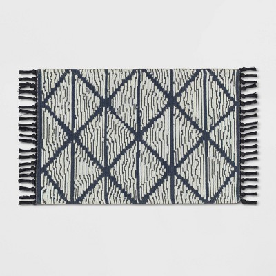 2'x3' Geo Accent Rug Charcoal Gray - Opalhouse™