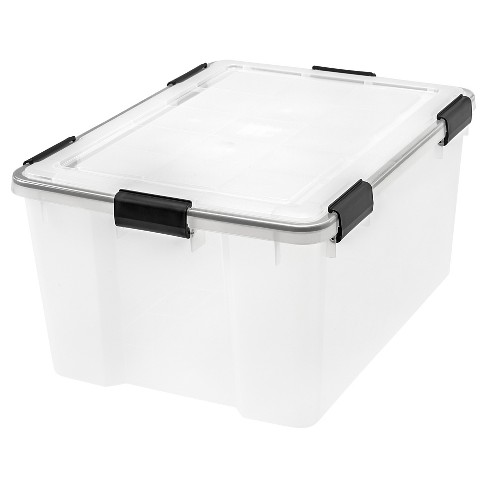 IRIS 4pk 62qt Weathertight Plastic Storage Bin - image 1 of 4
