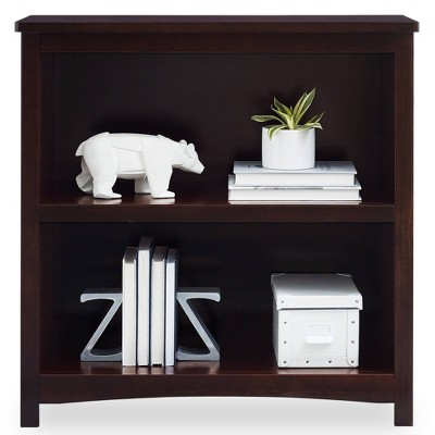 Delta Children Universal 2-Shelf Bookcase - Dark Chocolate