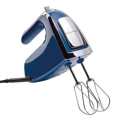 Hamilton Beach 6 Speed Open Handle Hand Mixer With Case - Royal Blue 62622