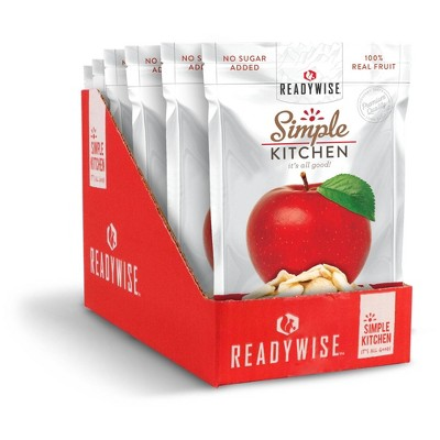 READYWISE Gluten Free Simple Kitchen Sweet Apples Freeze-Dried Fruit - 4.2oz/6ct
