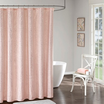 Melody Printed Shower Curtain Blush/Gold