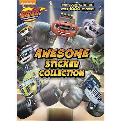 Blaze and the Monster Machines Awesome Sticker Collection (Blaze and the Monster Machines) - (4 Color Plus 1,000 Stickers) by  Golden Books