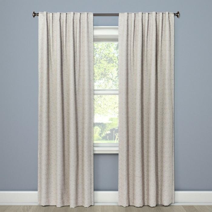Doral Curtain Panels Indigo - Project 62™ - image 1 of 2