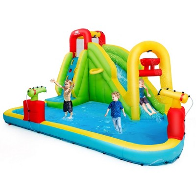 Costway Inflatable Water Slide Kids Bounce House Without Blower