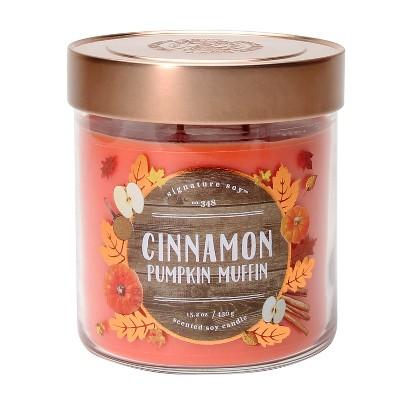 Jar Candle - 15.2oz - Cinnamon Pumpkin Muffin - Signature Soy