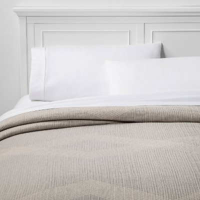Full/Queen Oversized Reversible Jacquard Coverlet Gray - Project 62™ + Nate Berkus™