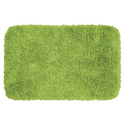 Jazz Shaggy Solid Washable Nylon Bath Rug (24 x40 )Lime Green - Garland Rug®