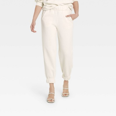 Women's High-Rise Pull-On All Day Fleece Ankle Jogger Pants - A New Day™