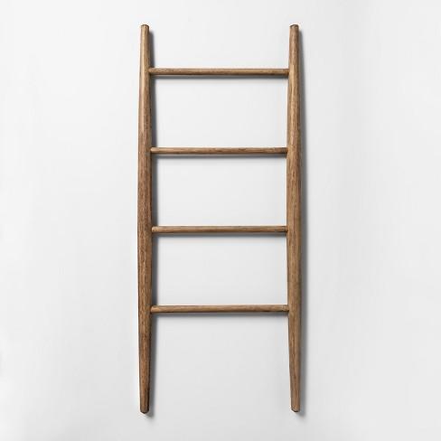 "42"" x 18"" Decorative Wood Ladder Brown - Threshold™ - image 1 of 3"