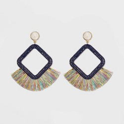 SUGARFIX by BaubleBar Fringe Hoop Earrings