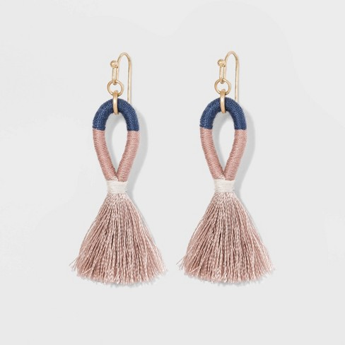 Threaded Drop Tassel Earrings - Universal Thread™ - image 1 of 5