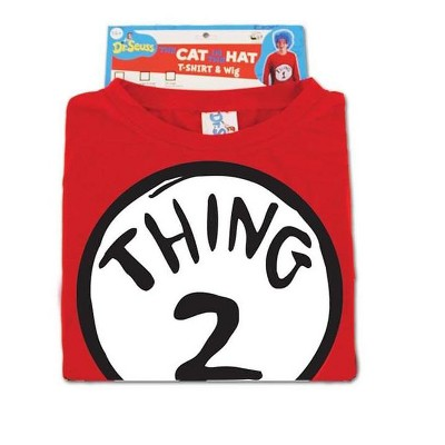 Elope Dr. Seuss Thing 2 Costume Shirt Adult