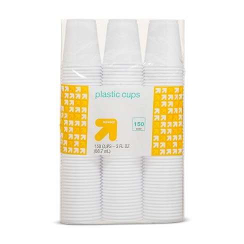White Disposable Plastic Cups - 150ct - Up&Up™ - image 1 of 1