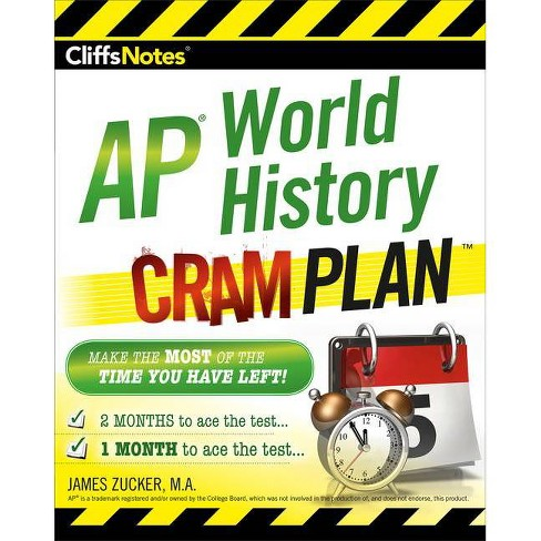Cliffsnotes AP World History Cram Plan - (Cliffs Notes) by  James Zucker (Paperback) - image 1 of 1