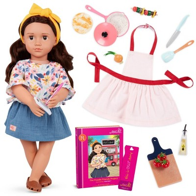 Our Generation Deluxe Doll with Book - Food truck doll new outfit accessories