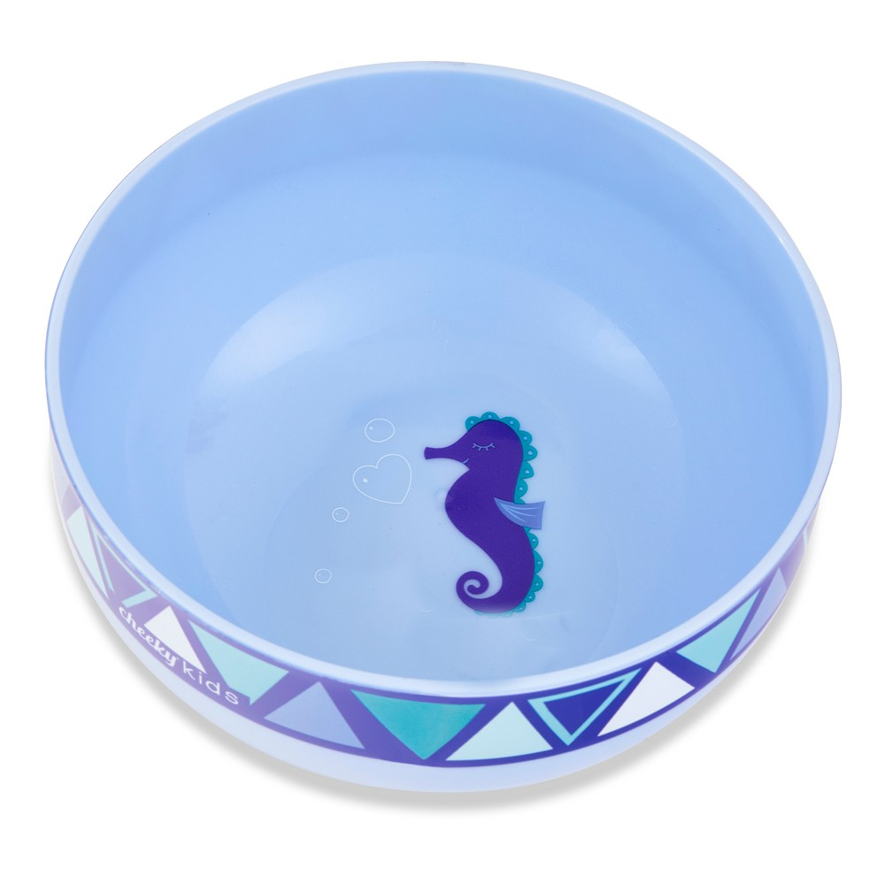 Image of Cheeky Plastic Kids Bowl 10oz Seahorse - Purple