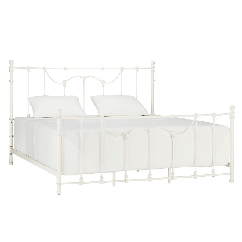 King Preyal Victorian Metal Bed White - Inspire Q