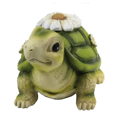 """Home & Garden 4.0"""" Mini Turtle Painted Critter Landscape Accent Roman, Inc  -  Outdoor Sculptures And Statues"""