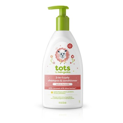 Tots by Babyganics 2-in-1 Shampoo & Conditioner for Curly Hair Apricot Chamomile - 11 fl oz