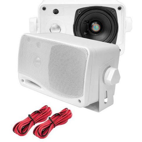 "Pyle Marine Audio PLMR24 3.5/"" 200 Watt 3-Way Weatherproof Mini Box Speaker"